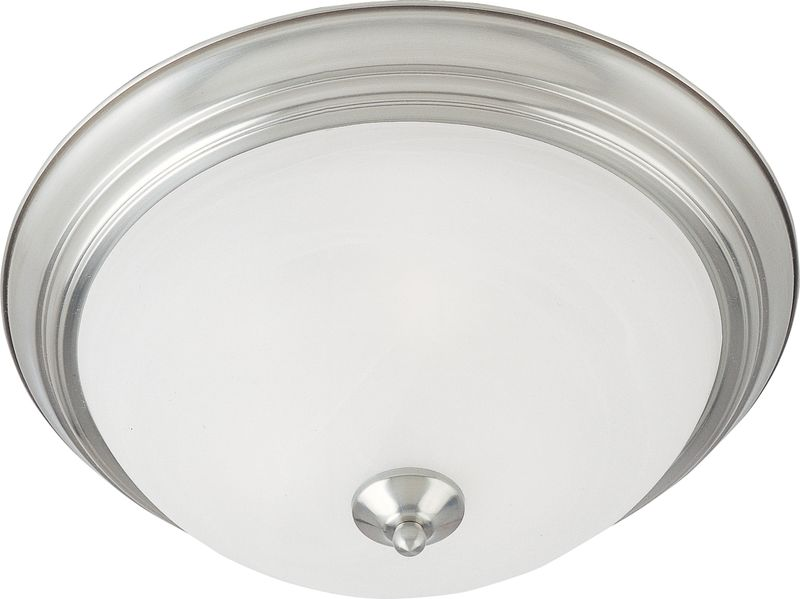 "Essentials - 584x 13.5"" 2-Light Flush Mount - Satin Nickel"